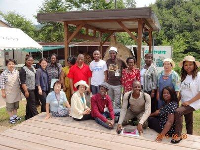 アフリカからの研修員が山口・広島に研修旅行